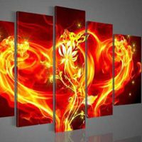 アートパネル 『ハートの炎』 計5枚組