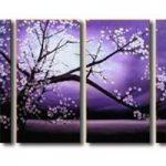 アートパネル 『夜桜』 30x60cm x 4枚組