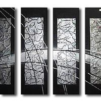 アートパネル 『銀の盾』 30x80cm x 4枚組