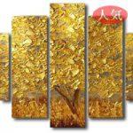 アートパネル 『黄金の木』 30x50cm x 2枚他、計5枚組