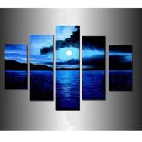 アートパネル 『青い月夜』 20x50cm、2枚他、計5枚組
