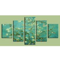 アートパネル ゴッホ『花咲くアーモンドの枝?』 5枚組