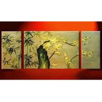 アートパネル 『深山幽谷』 25x50cm他、計3枚組