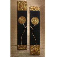 アートパネル 『黒と金Ⅱ』 20x80cm x 2枚組