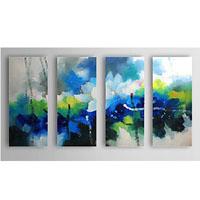 アートパネル 『色彩と花』 30x70cm x 4枚組