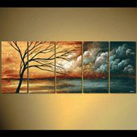 アートパネル 『枯れ木』 30x60cm、5枚組