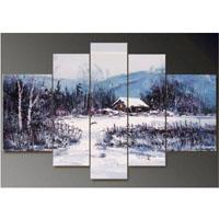 アートパネル 『雪景色〜冬〜』 30x50cm他、計5枚組