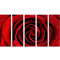 アートパネル 『赤い薔薇』 25x80cm x 5枚組