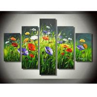 アートパネル 『草原の色彩豊かな花々』 30x60cm他、5枚組