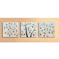アートパネル 『枝葉』 50x50cm x 3枚組