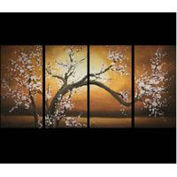 アートパネル 『梅の白い花』 30x60cm x 4枚組