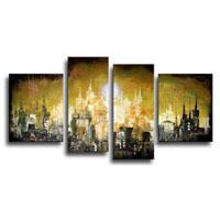 アートパネル 『都市Ⅳ』 30x40cm他、計4枚組