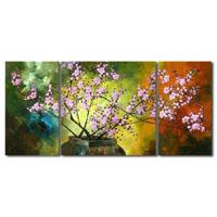 アートパネル 『花瓶の桜』 30x60cm、2枚組他、計3枚