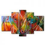アートパネル 『ホース(馬) 』 30x80cm他、計5枚組