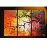 アートパネル 『梅』 30x70cm x 3枚組
