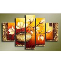 アートパネル 『花瓶の黄色い花』 25x40cm他、計5枚組