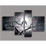 アートパネル 『小鳥と梅の枝』 30x40cm他、計4枚組