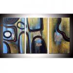 アートパネル 『線と渦』 30x60cm x 3枚組
