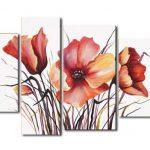 アートパネル 『花びらⅦ』 30x50cm他、計4枚組