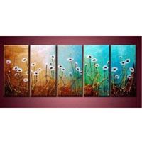 アートパネル 『白い花びらⅦ』 30x60cm x 5枚組