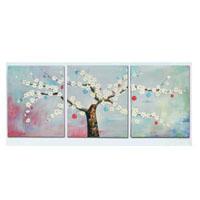 アートパネル 『幸福の木Ⅱ』 40x40cm、3枚組