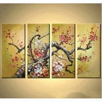 アートパネル 『梅の木Ⅲ(プラム)』 25x50cm x 4枚組