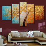 アートパネル 『黄金の樹』 25x40cm x 2枚他、5枚組
