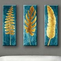 アートパネル 『金色の葉』 30x90cm x 3枚組