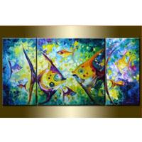 アートパネル 『熱帯魚』 50x50cm x 1枚他、計3枚組