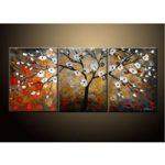 アートパネル 『闇夜の白い花』 40x60cm、3枚組