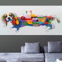 アートパネル 『カラフルな犬』 40x80cm x 1枚