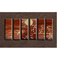 アートパネル 『花月夜』 25x75cm、6枚組