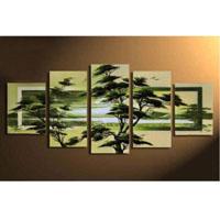 アートパネル 『春の緑』 25x40cm x 2枚他、計5枚組