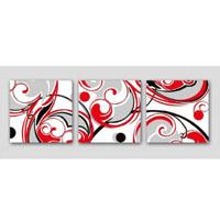 アートパネル 『流線』 40x40cm、3枚組