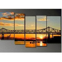 アートパネル 『橋』 25x50cm他、計5枚組