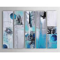 アートパネル 『水色』 20x80cm x 5枚組