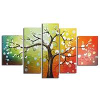 アートパネル 『白い花の咲く木』 5枚組