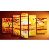 アートパネル 『夕暮れ』 25x40cm x 2枚他、計5枚組