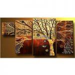 アートパネル 『樹木』 30x60cm他、計4枚組
