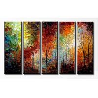 アートパネル 『紅葉Ⅱ』 25x75cm x 5枚組