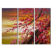 アートパネル 『梅の花』 30x70cm x 3枚