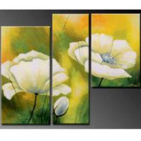 アートパネル 『白い花』 40x60cm他、計3枚組