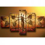 アートパネル 『人間の樹』 30x50cm x 2枚他、計5枚組