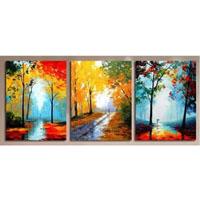 アートパネル 『秋の小道』 40x60cm x 3枚組