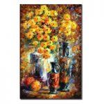 アートパネル 『黄色い花』 160x80cm x 1枚