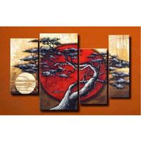 アートパネル 『松と太陽Ⅱ』 30x60cm、2枚他、計4枚組