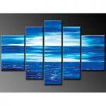 アートパネル 『青い海』 30x50cm他、計5枚組