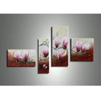 アートパネル 『桃色の花びら』 30x60cm他、計4枚組