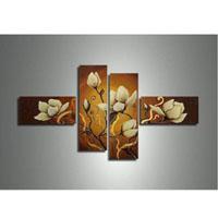 アートパネル 『白い花びら』 25x50cm、2枚他、4枚組