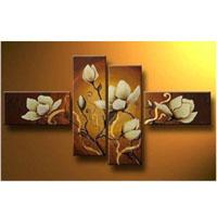 アートパネル 『白い花びら』 20x40cm x 2枚他、計4枚組